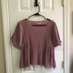 Madewell pink pleated top